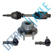 Buy Front Driver CV Axle Shaft + 2 Tie Rod Ends + NEW Wheel Hub and Bearing Assembly