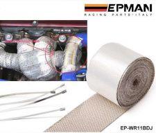 Buy EXHAUST HEADER TURBO MANFOLD PIPE AL HEAT SHIELD WRAP TAPE 5x51 MM EP-WR11BDJ