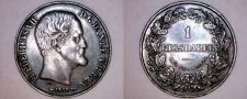 Buy 1855(c) FK/VS Danish 1 Riksdaler World Silver Coin - Denmark - Frederik VII