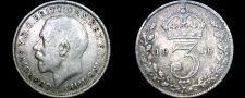 Buy 1916 Great Britain 3 Pence World Silver Coin - UK