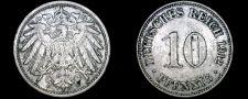 Buy 1912-D German 10 Pfennig World Coin - Germany