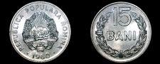 Buy 1960 Romanian 15 Bani World Coin - Romania