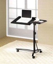 Buy Portable Laptop Stand Computer Adjustable Swivel Top Casters for Mobility Desk