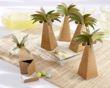 Buy Palm Tree Favor Box with Multi-dimensional Detail (Set of 24)