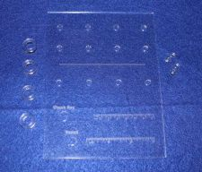 "Buy Laser Cut Bit Storage Template - All 1/4"" Holes Acrylic - 1/8"" Thick -Imperial"