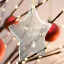 Buy Beveled Glass Ornament-Star Shaped - 15 Design Choices - Free Personalization