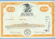 Buy Nevada na Stock Certificate Company: Bell Montain Silver Mines, Inc.~10