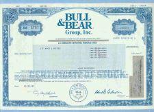 Buy New York na Stock Certificate Company: Bull & Bear Group, Inc. ~15