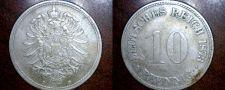 Buy 1873 D German 10 Pfennig World Coin - Germany