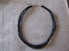 """Buy Womens Black Cable Necklace...16 1/2"""" x 19 1/2"""" # 67"""