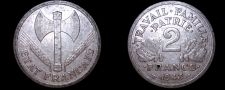 Buy 1943 French 2 Franc World Coin - German Occupied France