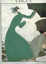Buy Vogue 1921 Cover Print Lady Umbrella by Lepape Art Deco 1984 original print