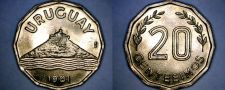 Buy 1981 Uruguay 20 Centesimo World Coin