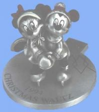 Buy Mickey & Minnie 1994 Ice Skating Disney Pewter Christmas Waltz