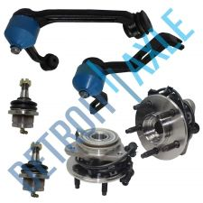 Buy 6 pc Kit Wheel Hub and Bearing + Upper Control Arm + Lower Ball Joint 4WD w/ ABS