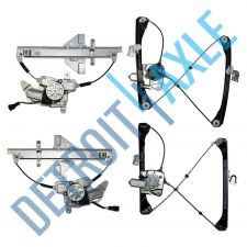 Buy NEW Set of 4 - 2 Front + 2 Rear Window Regulator Assembly with Motor Kit - Sedan