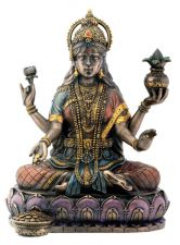 Buy Bronze Hindu Goddess Statue Home Decor Blessings Crafted Resin Nice Piece Gift
