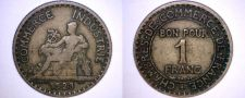 Buy 1923 French 1 Franc World Coin - France