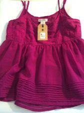 Buy NWT!! Billabong Dressy Baby Doll Hem, Chiffon Fuchsia Tank