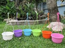 Buy 6 DIY Flower Sky Hanging Plastic Pots Basket Cups Garden Grow Plant Seeds Herbs
