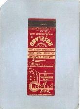 Buy New York Canandaigua Lake Amusement Park Matchcover Roseland Park Rt 5 & U~134
