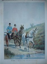 Buy Coaching Horse Riding Coach Fox Hunting 1896 original colour print