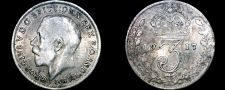 Buy 1917 Great Britain 3 Pence World Silver Coin - UK