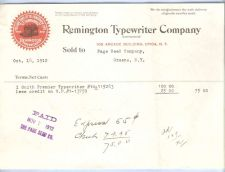Buy New York Utica Letterhead / Billhead Remington Typewriter Company 109 Arca~38