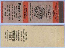 Buy New York Buffalo Matchcover Advertising Murphys Cafe 843 Abbot Rd Buffalo ~144