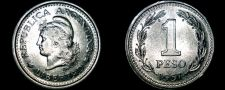 Buy 1957 Argentina 1 Peso World Coin