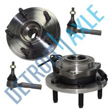 Buy 4 pc Set - 2 Complete Wheel Hub and Bearing Assembly + 2 Outer Tie Rod; w/ ABS
