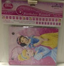 Buy Disney Princess Birthday Party Banner W/Kit To Personalize Your Age 7ft