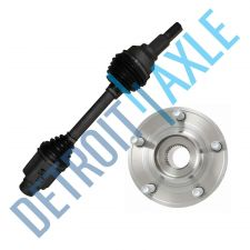 Buy 2 pc Set Front Passenger CV Axle Shaft + Wheel Hub and Bearing - 2.4 or 2.7L
