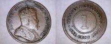 Buy 1907 Straits Settlements 1 Cent World Coin