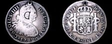 Buy 1792-LIMAE IJ Peruvian 2 Reales World Silver Coin - Peru - Holed - Countermarked