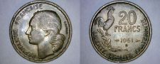 Buy 1951-B French 20 Franc World Coin - France