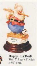 Buy Disney Snow White Happy Musician Laurenz Capodimonte C.O.A. Original Box