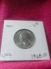 Buy 1968-D 25C Washington Quarter Mint State GEM High Quality US Coin From Set