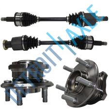Buy BRAND NEW Front Driver and Passenger CV Axle + 2 Wheel Hub Bearing - AWD w/ ABS