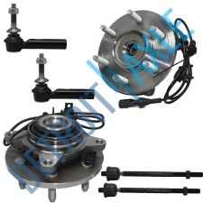 Buy NEW Front Driver and Passenger Wheel Hub and Bearing 4WD w/ ABS + 4 Tie Rod