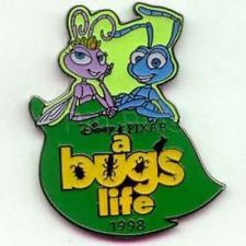 Buy Atta and Flik dated 1998 on Leaf Disney A Bug's Life authentic pin/pins