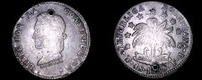 Buy 1859-PTS FJ Bolivian 4 Soles World Silver Coin - Bolivia - Holed
