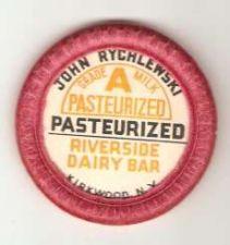 Buy New York Kirkwood Milk Bottle Cap Name/Subject: John Rychlewski Riverside ~445
