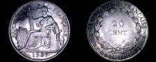 Buy 1937 French Indo-China 20 Cent World Silver Coin - Vietnam