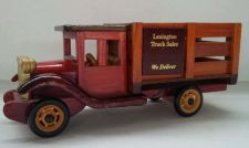 "Buy Wooden COLLECTABLE Truck (Promotional Piece) 9 1/2"" Detailed/Rolls"