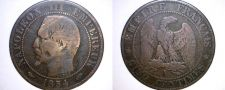 Buy 1854-A French 5 Centimes World Coin - France