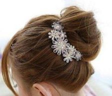Buy Beautiful Jewelry Flowers Crystal Hair Clips for hair clip Beauty Tools New