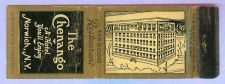 Buy New York Norwich Matchcover Advertising The Chenango Hotel Norwich NY w/Ha~126