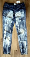 Buy NWT Max SKINNY Stretch JEANS 98% Cotton Acid Washed Blue-Women's SIZE 7