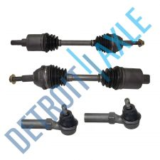 Buy 4 pc Kit - 2 Front Driver and Passenger CV Axle Shaft + 2 Outer Tie Rods